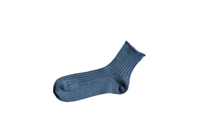 LINEN RIBBED SOCKS M画像