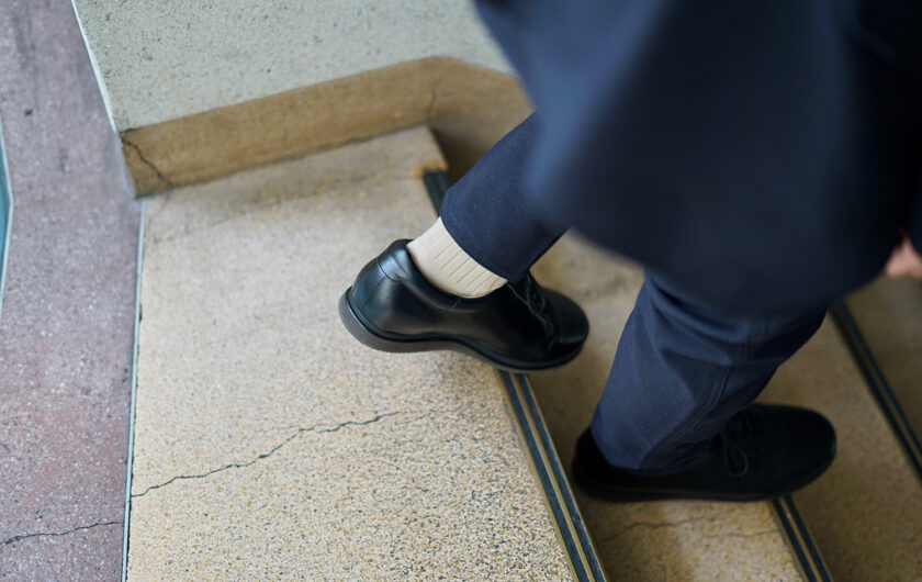 Taking the formal wear of socks, the long hose sock, and making it into a standard winter sock for men