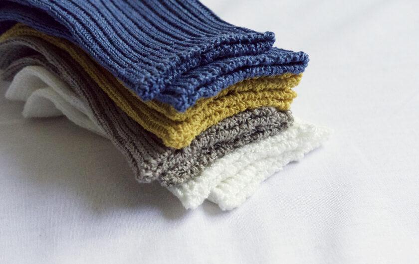 Making NK's linen socks Japan's summer signature socks